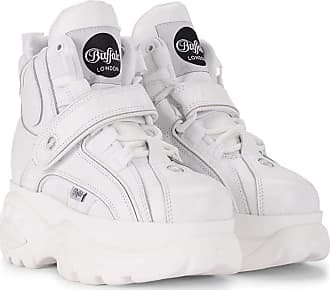 Buffalo Sneakers Shoes Boots Man Woman Unisex Plateau high col White Blanco Soft BFL1348-14 2.0BL