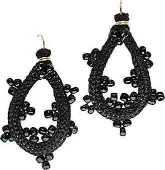 Tinna Jewelry Brinco Dourado Zig Zag Médio (Preto)