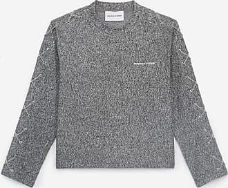 The Kooples Grey rock-style T-shirt with long sleeves - WOMEN