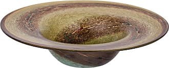 A & B Home Decorative Amber Glass Bowl - 76714