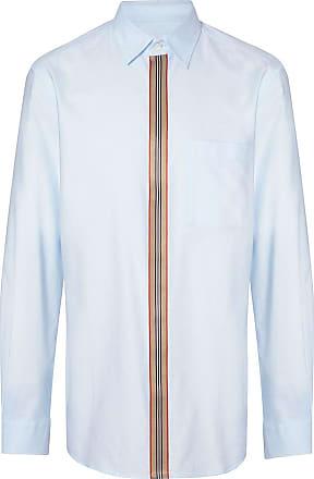 Burberry Camisa polo com detalhe Icon Stipe - Azul