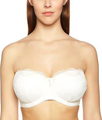 51e22eca5654 Charnos Charnos Bailey Bridal Bra 155104 Underwired Strapless Multiway  Balconette Ivory, Off-White (