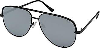 Quay Eyeware High Key QUAY X DESI (Black/Silver) Fashion Sunglasses