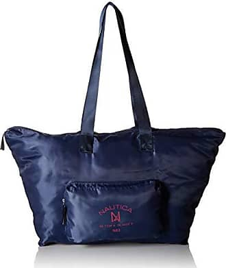 Nautica New Tack Packable Large Tote with Front Pocket, Navy