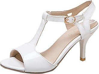 AIYOUMEI Damen Offene Sandaletten Knöchelriemchen Sandalen