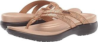Crocs Capri Strappy Flip (Bronze/Espresso) Womens Sandals