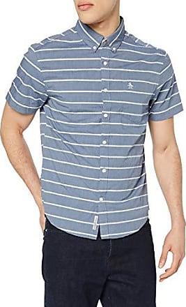 9aa479534ea5a8 Original Penguin Herren Chambray Boucle Stripe Freizeithemd