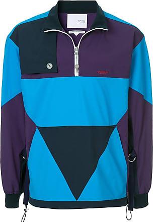Yoshiokubo panelled colour block jacket - Blue