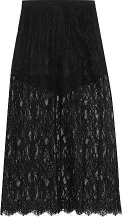 Fleur du Mal Fleur Du Mal Woman Layered Cotton-blend Lace Maxi Skirt Black Size 10
