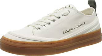 A X Armani Exchange Mens Recycled Cotton Box Sole Sneakers Low-Top, White Off White 00894, 10.5 UK