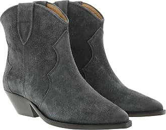 Isabel Marant Boots & Booties - Dewina Boots Used Look Velvet Faded Black - grey - Boots & Booties for ladies