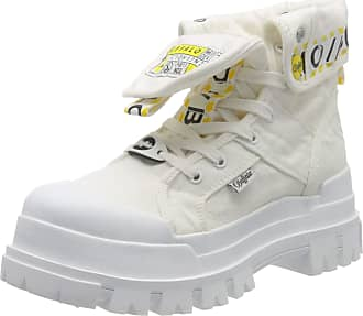 Buffalo Panthera Hi, Womens Combat Boots, White (White 000), 5 UK (38 EU)