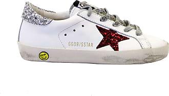 Golden Goose Sneakers White Glitter Silver Red Multicolour Size: 11.5 UK Child