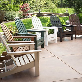 POLYWOOD Outdoor POLYWOOD Recycled Plastic Classic Curveback Adirondack Chair Hunter Green - CBADGR