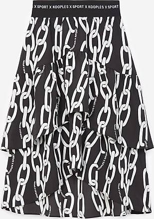 The Kooples Long skirt with tone-on-tone chain motif - WOMEN