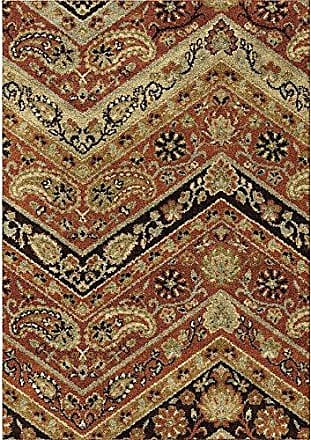 Orian Rugs American Heritage Paisley Point Area Rug, 710 x 1010, Rouge