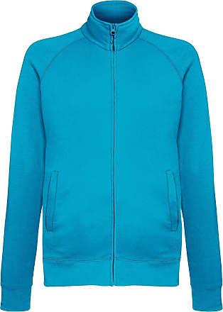 Fruit Of The Loom Mens Lightweight Full Zip Sweatshirt Jacket (M) (Azure Blue)