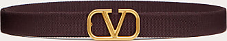 Valentino Garavani Valentino Garavani Uomo Vlogo Signature Tape Belt Man Rubin Polyester 100% OneSize