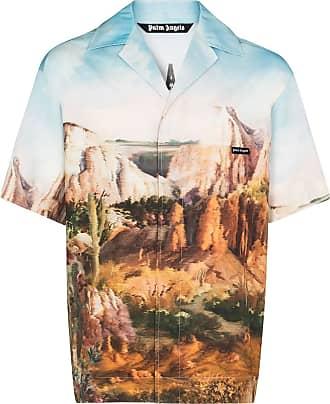 Palm Angels Canyon-print bowling shirt