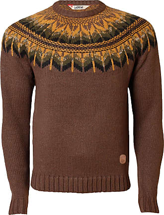 Tokyo Laundry Mens Jumper 1A 2815 Aztec Knitwear Sweater Pullover Casual Winter, Praline, Large