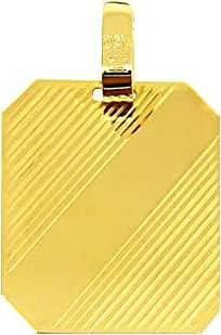 Prado Joias Pingente Em Ouro 18k Placa Grande