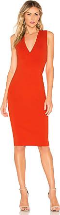 NBD Sina Midi Dress in Red