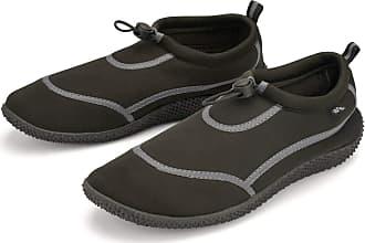 Urban Beach Wet Shoes Mens Adult Size Aqua Beach Surf Water Swim Foot Protection (Black & Grey, Numeric_10)