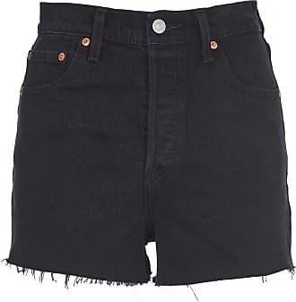 Pantaloni corti neri cropped in cotone Donna shorts pantaloncini bermuda