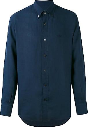 Salvatore Ferragamo Camisa de linho - Azul