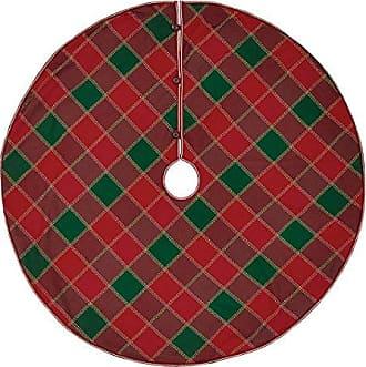 VHC Brands Holiday Decor Tristan Tree Skirt, 55 Diameter, Grey