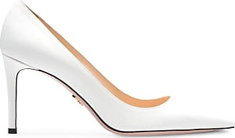 Prada Saffiano textured patent leather pumps - Branco