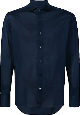 Corneliani lightweight button shirt - Azul