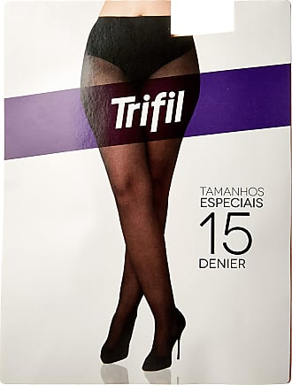 Trifil Meia-Calça Fio 15 Especial Feminino, 3XG, Preto