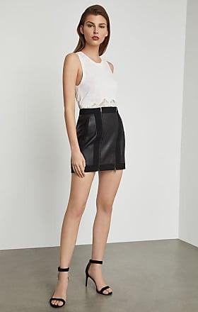 BCBGeneration Roxy Faux-Leather Mini Skirt