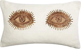 Jonathan Adler Muse Beaded eyes Pillow