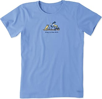 Life is good Womens Jackie and Rocket Play In The Dirt Vintage Crusher Tee XXXL Powder Blue