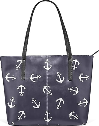 NaiiaN Handbags Light Weight Strap Purse Shopping for Women Girls Ladies Student Tote Bag Leather Nautical Anchor Vintage Shoulder Bags Cup