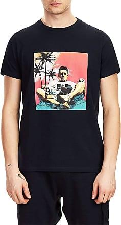 Weekend Offender Mens Shaun SS T-Shirt Navy (X-Large)