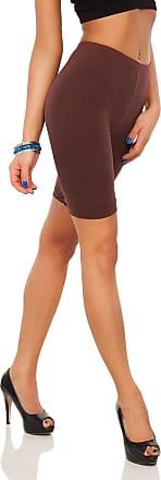 FUTURO FASHION SOFTSAIL 1/2 Length Cotton Leggings Over-Knee Comfy Breathable Sport Gym Cycling Elastic Pants LK Brown 16/18