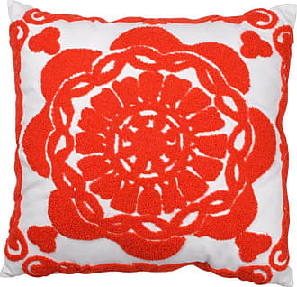 A & B Home 18 in. Medallion Embroidered Pillow - T41033