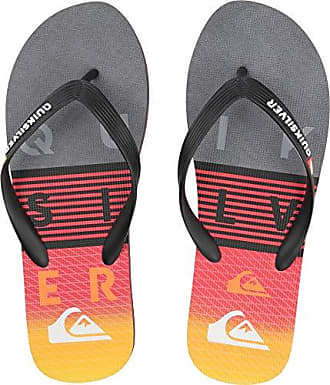 Quiksilver Mens Molokai Word Block Sandal Black Grey Yellow 14(47) M 964704501a3