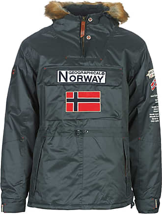 Geographical Norway Barman-GRIS-Fonce Coats Hommes Grey - L - Parkas