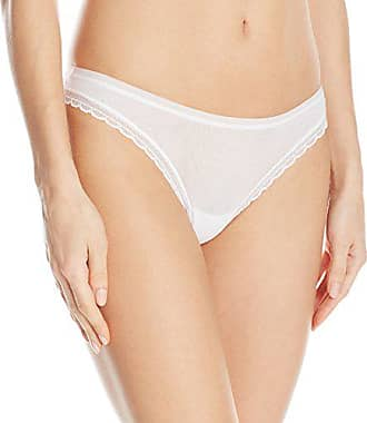 OnGossamer Womens Next to Nothing Mesh Low-Rise Thong Panty, White, Small
