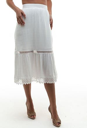 Tulle Jour Saia Madalena Off White - Mulher - Off-white - 14 BR