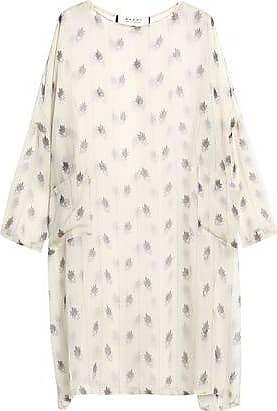 3395acd8e9e363 Marni Marni Woman Printed Silk-gauze Mini Dress Ecru Size 40
