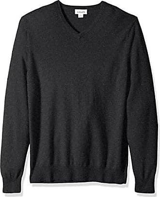 Williams Cashmere Mens 100% Cashmere Big-Tall V-Neck Sweater, Charcoal, 2LT