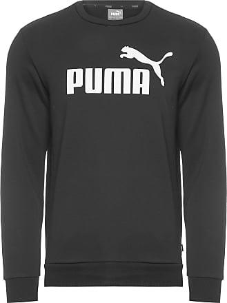 Puma BLUSA MOLETOM MASCULINO LOGO CREW SWEAT - PRETO