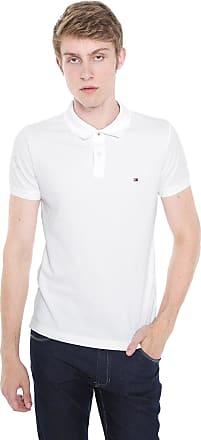 69f68cbf8b Tommy Hilfiger Camisa Polo Tommy Hilfiger Slim Global Stripe Branca
