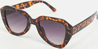 7X SVNX Oversize Angular Sunglasses-Cream