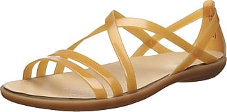 Crocs Womens Isabella Strappy Sandal W Open Toe, Gold (Dark Gold/Gold 276), 7 UK (39/40 EU)